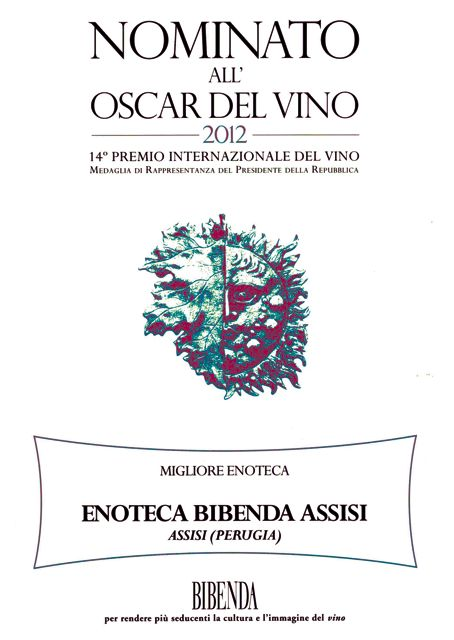 Oscar del vino bibenda assisi wine bar